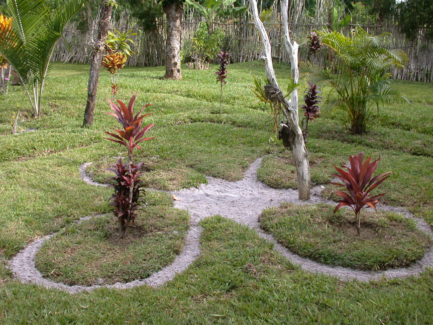 Le jardin à l'avant