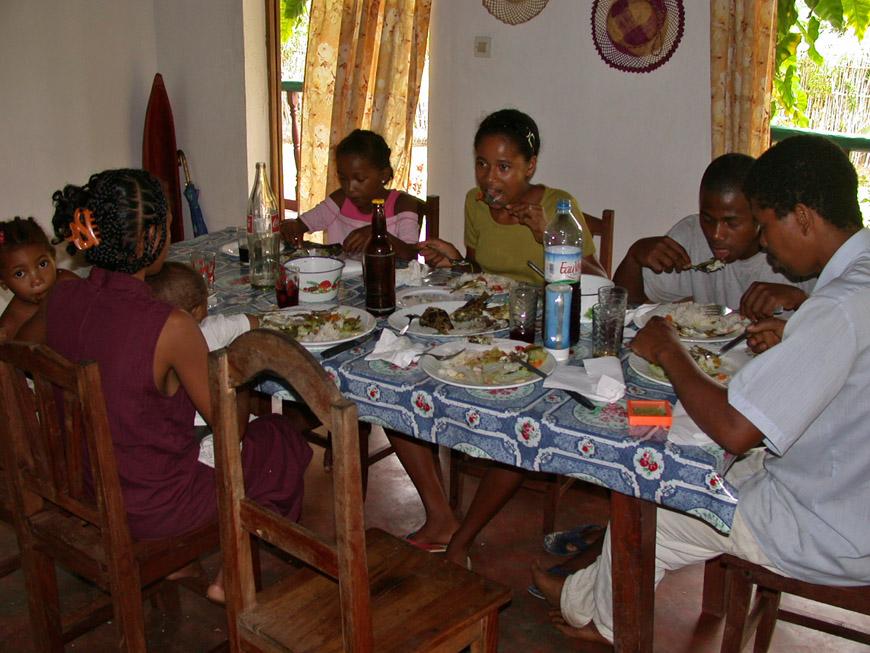 la salle à manger de la maison