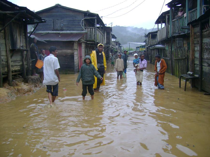 Le cyclone à Andasibe
