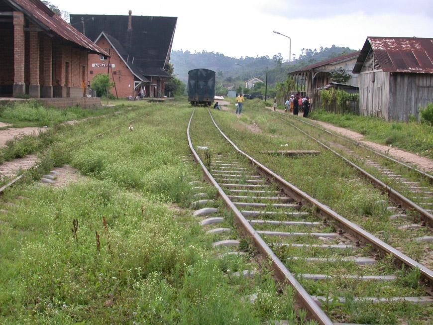 La gare d'Andasibe