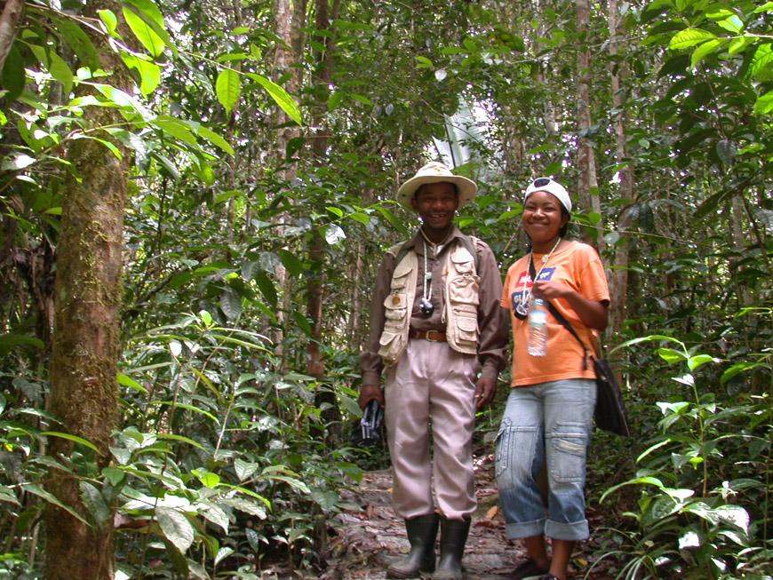 En forêt avec Christin et Bako