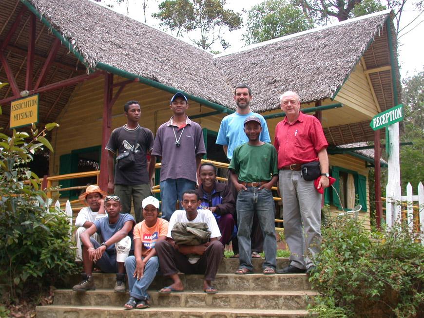 Avec le groupe des guides de Mitsinjo