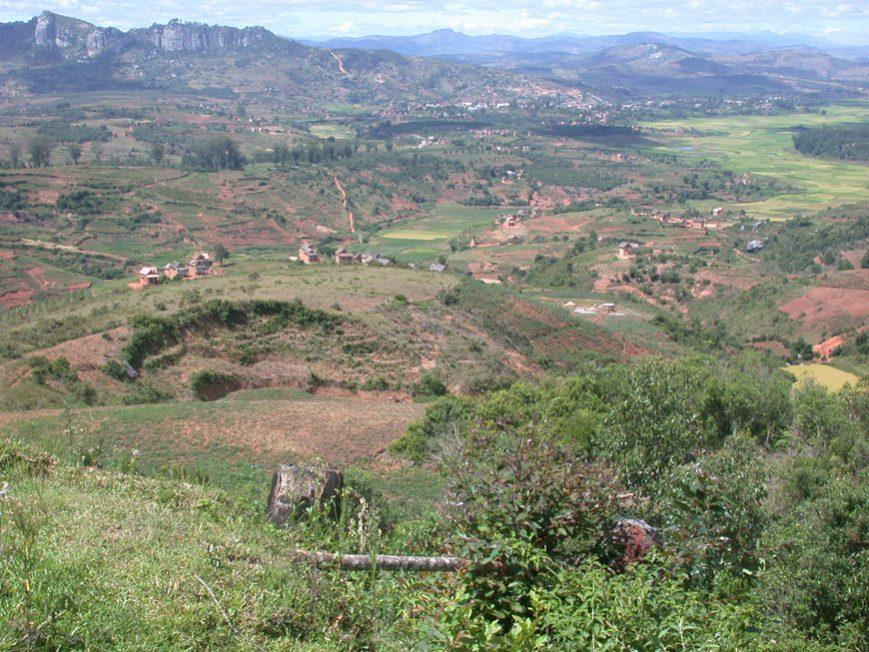 Paysage vu du train Manakara-Fianarantsoa