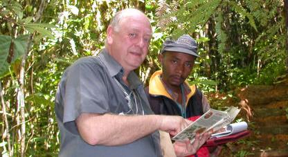 Le guide Christin et l'auteur (Andasibe, 27.01.06)