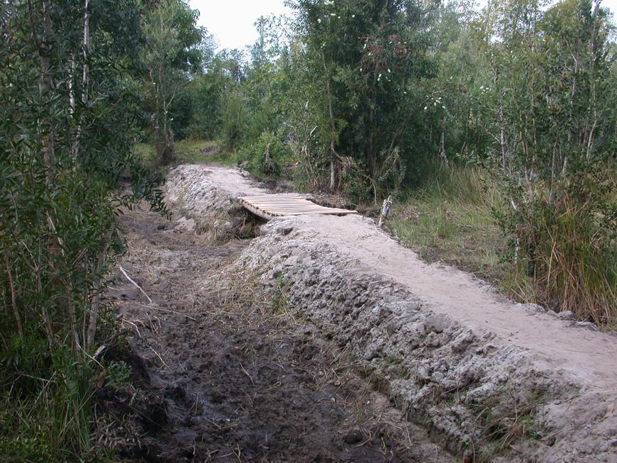 Un pont pour aller du CEG à Mitsinjo, à pied sec