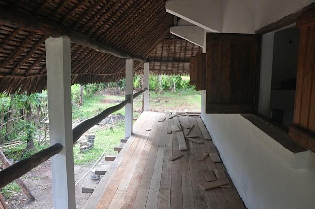 terrasse avec planches