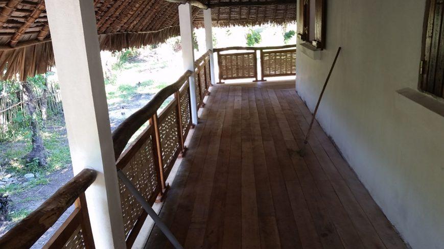 habillage terrasse de l'intérieur