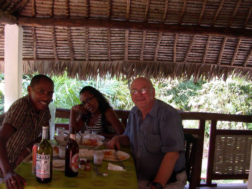 A table avec Michel et Kanto