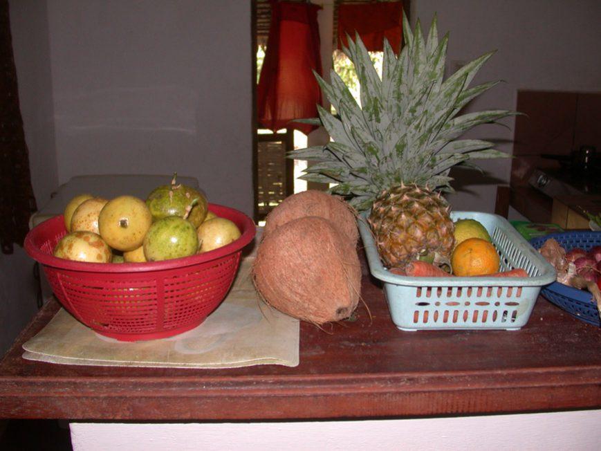 Des fruits comme cadeaux