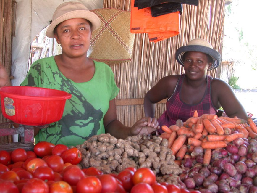 Françoise au marché